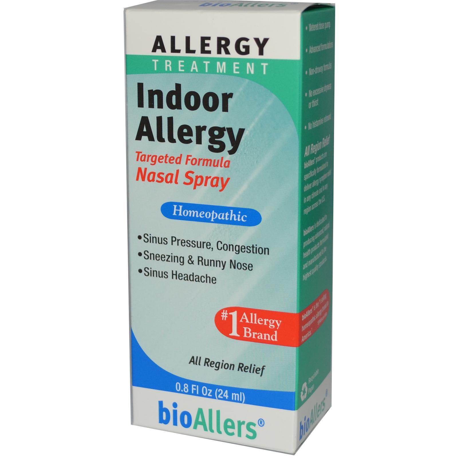 BioAllers Indoor Allergy Nasal Spray đặc trị các triệu chứng khó chịu do đường hô hấp gây ra