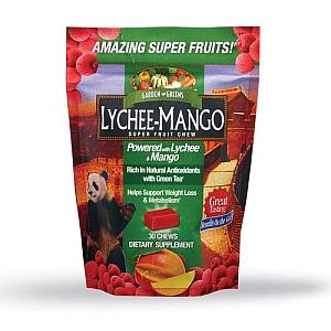 Lychee-mango super fruit chew, kẹo ngậm giảm cân, làm mất cảm giác thèm ăn, tăng cường tiêu hóa, 30 viên
