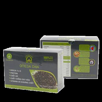 Hạt chia omega 3 6 giúp giảm cân, hỗ trợ điều trị bệnh tim mạch, tiểu đường, hộp 33 gói
