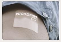 Nên dán Nicoderm CQ vào những vùng da dưới bắp tay, bắp đùi, sườn non, cánh tay