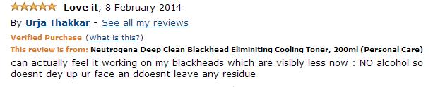 Neutrogena Deep Clean Blackhead Eliminating Cooling Toner 5