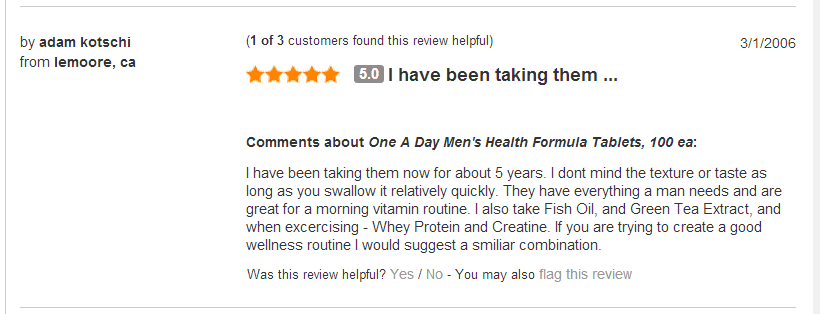 One a day® mens health formula