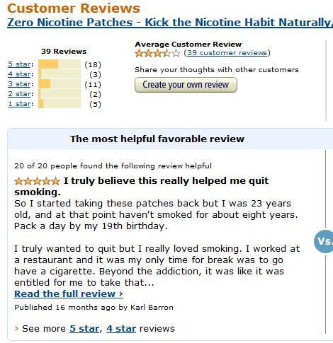 Miếng dán cai thuốc lá zero nicotine patches an toàn hiệu quả, 10 miếng
