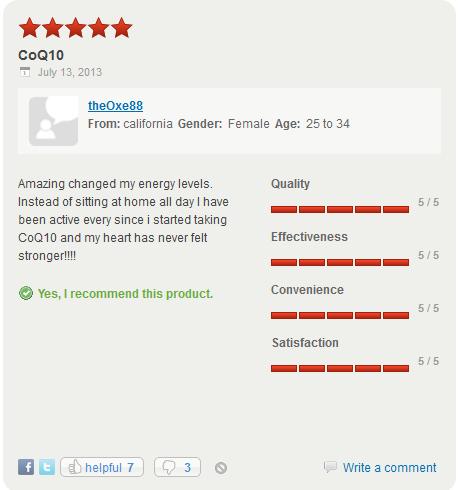Đánh giá của khách hàng Nature Made CoQ10