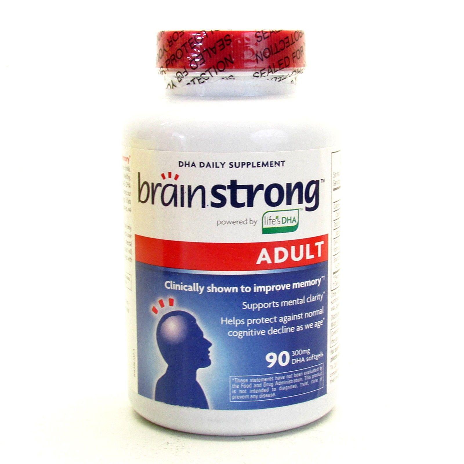 Brainstrong adult dha: thuốc giúp tăng cường trí nhớ cho người lớn, 300 mg 90 viên