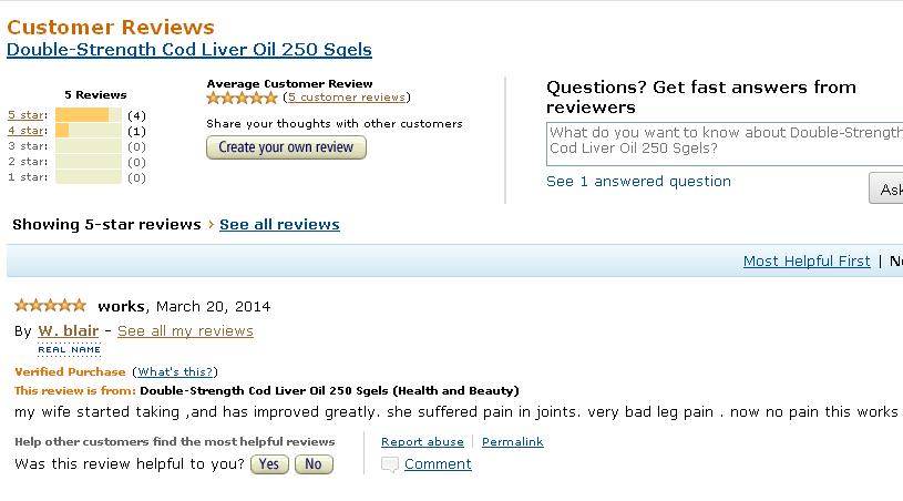 Ý kiến khách hàng- nguồn Amazon
