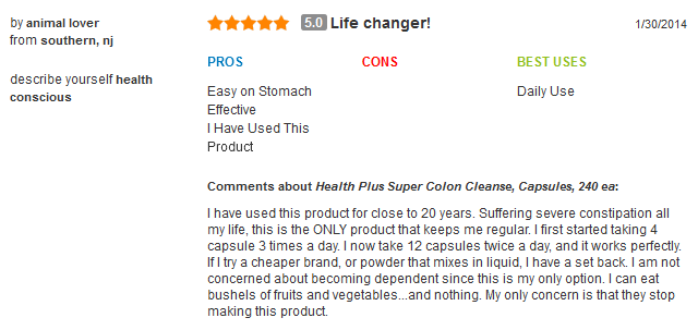 Health plus super colon cleanse với herbs and acidops,60 viên: viên uống hỗ trợ và giải độc đường ruột