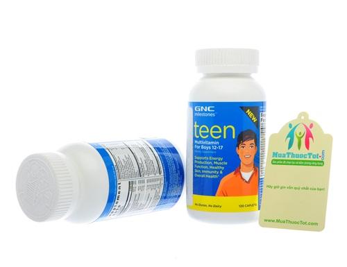 GNC Milestones Teen Multivitamin hỗ trợ vitamin khoáng chất