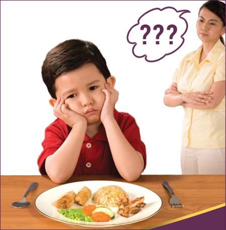 Trẻ biếng ăn là nỗi lo swoj của bố mẹ