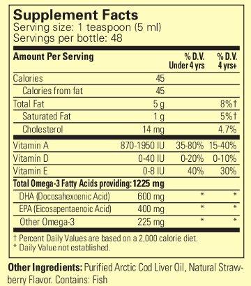 Childlife cod liver oil strawbrry
