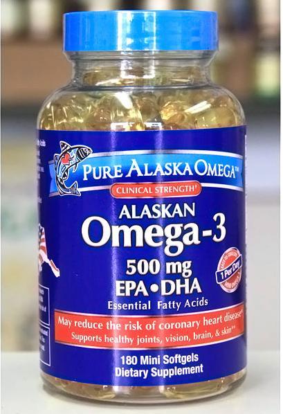 Alaska omega-3 dha epa 180 viên – thuốc bổ mắt, tăng cường trí não và hỗ trợ điều trị bệnh tim mạch