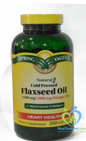 Spring Valley Flaxseed Oil 2400 mg cung cấp đủ dưỡng chất hổ trợ điều trị bện tim mạch