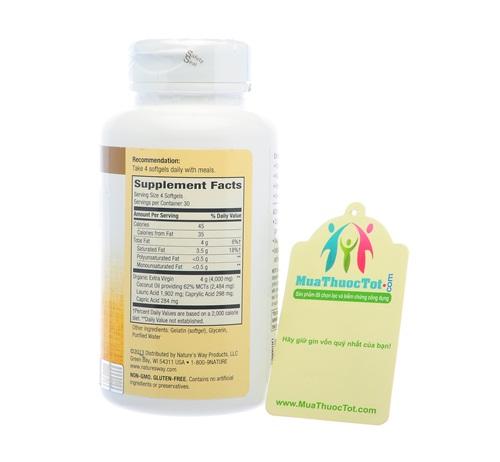 Thành phần Coconut Oil Pure Extra Virgin