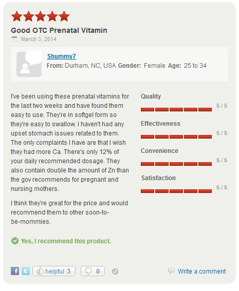 Các bà mẹ trên thế giới đánh giá như thế nào về Nature Made Prenatal Multivimin DHA?
