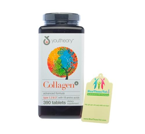 Collagen Advanced Type 1,2&3 làm mờ vết nám, tăng độ sáng bóng cho làn da