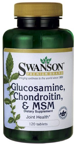 Swanson glucosamine chondroitin & msm 120 viên-thuốc bổ trợ xương khớp giúp tái tạo lại sụn khớp Đã bị thoái hóa thương tổn
