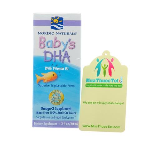Nordic Naturals Baby's DHA with Vitamin cung cấp dưỡng chất cho bé yêu