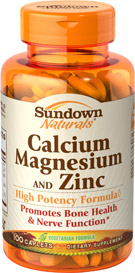 Sundown naturals calcium magnesium & zinc 100 viên – thuốc bổ sung khoáng chất cho hệ xương chắc khỏe