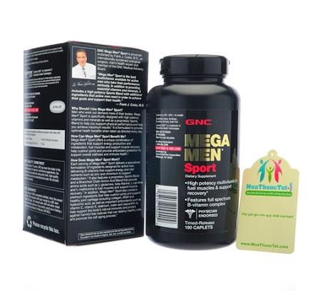 Viên uống cho người tập thể thao gnc mega men sport bổ sung vitamin và khoáng chất, 180 viên