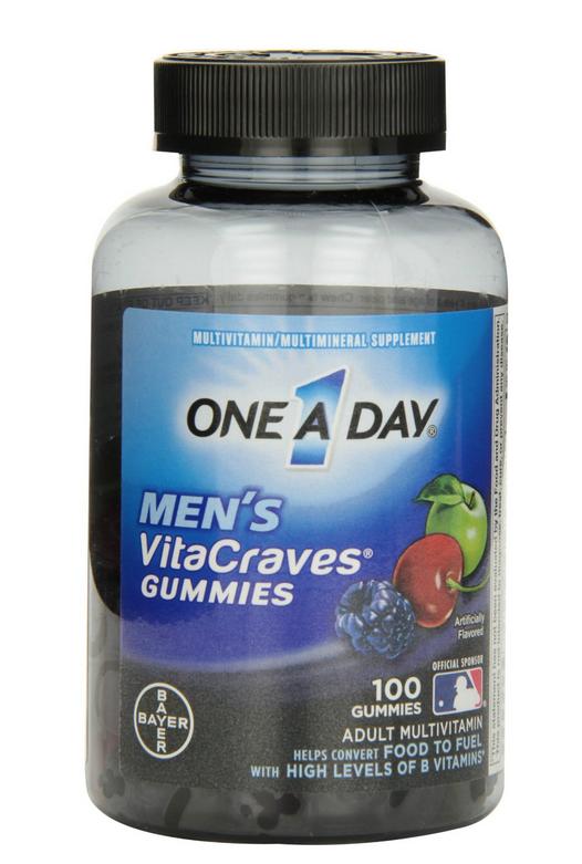 One a Day Men's Vitacraves Gummies cung cấp đầy đủ viatmin và khoáng chất cho nam giới