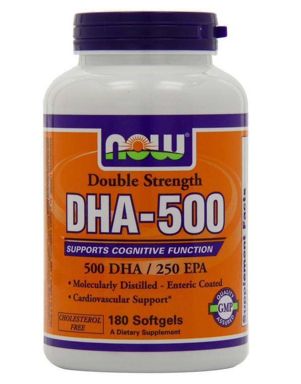 Now foods dha- 500: thuốc bổ sung dha cho cơ thể, 180 viên