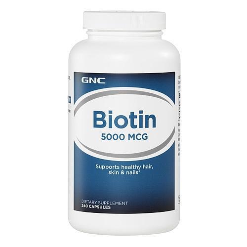 Gnc biotin 5000 mcg – viên hỗ trợ sức khỏe cho da, móng, toc, 240 viên