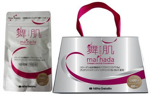 Collagen ngăn da chảy sệ, kháng khuẩn da, trị mụn nitta gelatin maihada 180 viên