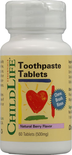 Child Life Toothpaste Tablets Natural Berry Flavor- Kẹo đánh răng dành cho trẻ em