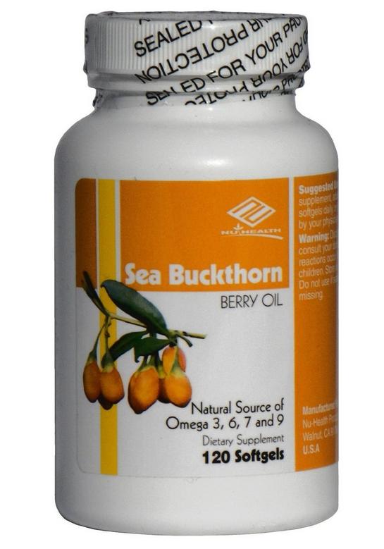 NuHealth sea Buckthom Berry Oil chiết xuất từ dầu hoa mai biển giúp tăng cường sức khỏe tim mạch