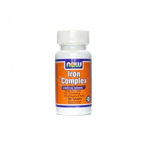 Now iron complex – viên uống bổ sung sắt giúp tăng cường sức khỏe, hệ miễn dịch cho cơ thể, 100 viên
