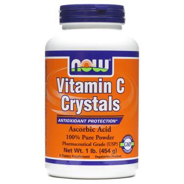 Now crystals vitamin c – thuốc bổ sung vitamin c, tăng cường miễn dịch, duy trì cấu trúc xương, 454 g