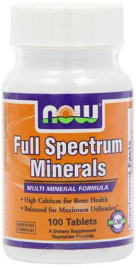 Now full spectrum minerals – thuốc uống bổ sung khoáng chất, tăng cường sức khỏe toàn diện, 100 viên