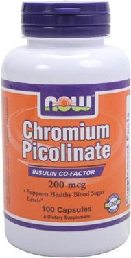 Now chromium picolinate, 200mcg– thuốc bổ sung crom giúp bảo vệ hệ tim mạch, 100 viên