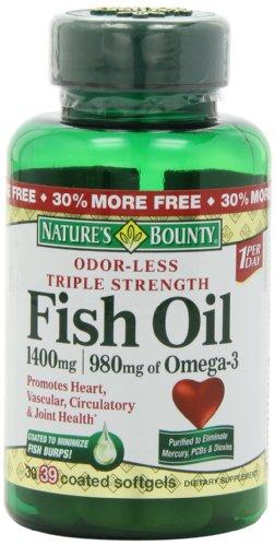 Nature's Bounty Fish Oil bảo vệ tim mạch, chống lão hóa
