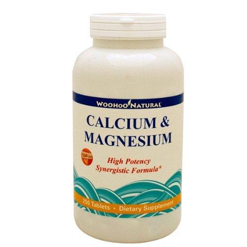 Woohoo natural® calcium & magnesium - viên bổ sung canxi và magie cho xương khỏe mạnh, 250 viên