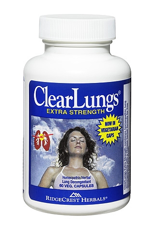 Ridgecrest Herbals ClearLungs thông mũi, phổi, cho hơi thở thông suốt và phổi khỏe mạnh