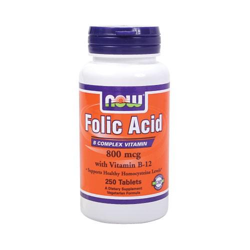 Now food Folic Acid With Vitamin B12 hỗ trợ điều trị bệnh loạn máu thiếu máu