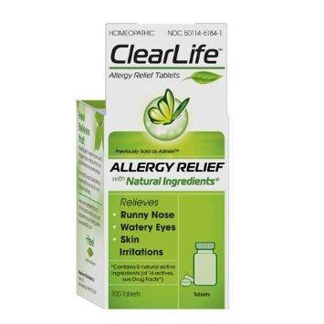 Clear Life Allergy Relief giảm nhẹ các triệu chứng của dị chảy nước mũi, nước mắt, kích ứng da