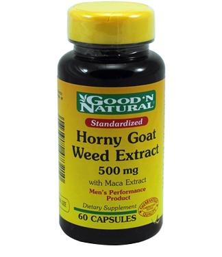 Good'n natural horny goat weed extract 500mg – thuốc tăng cường sinh lý, cải thiện khả năng tình dục, 60 viên