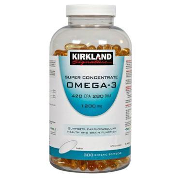 Kirkland signature super concentrate omega3 – viên uống bổ sung omega giúp bảo vệ hệ tim mạch, tăng cường trí não, 300 viên
