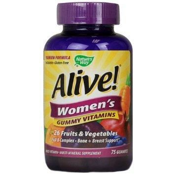 Natures Way Alive! Womens Energy Gummy Multi- Vitamins cung cấp Vitamin và khoáng chất cho nữ giới
