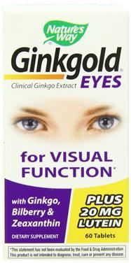 Nature's way ginkgold eyes – viên uống bổ mắt giúp tăng cường thị lực, 60 viên