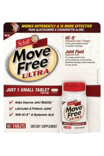 Schiff Move Free Ultra - Collagen and Hyaluronic Acid - 60 Tablets