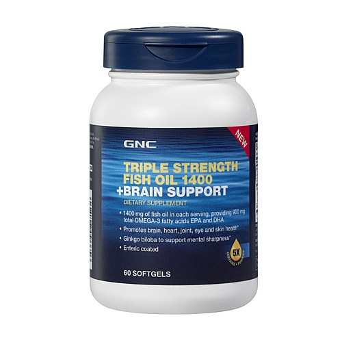 GNC Triple Strength Fish Oil 1400 + Brain Support