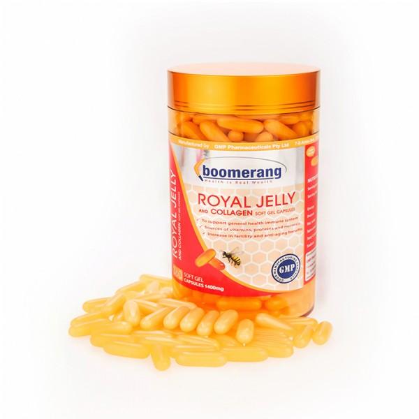 Sữa ong chúa boomerang royal jelly and collagen, 360 viên