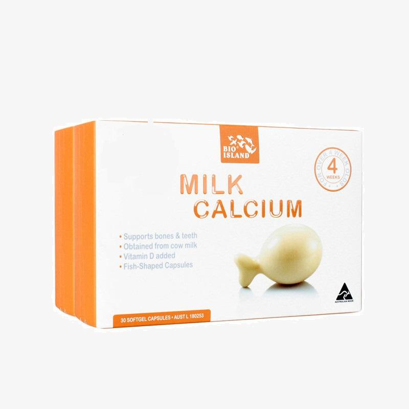 Viên uống chiết xuất từ sữa bò - bio island milk calcium, 30 viên
