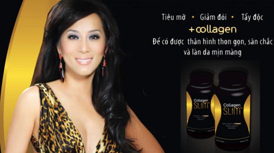 Viên uống bổ sung collagen giúp giảm cân, đẹp da - collagen slim, 30 viên