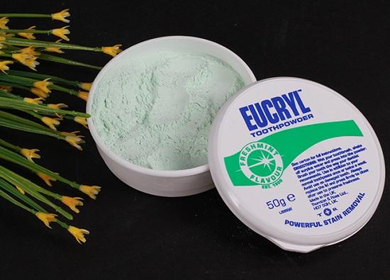 Thành phần của bột làm trắng răng eucryl