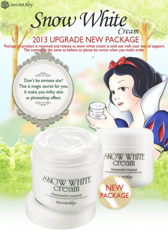 Kem dưỡng trắng da hàn quốc secret key snow white cream 50g
