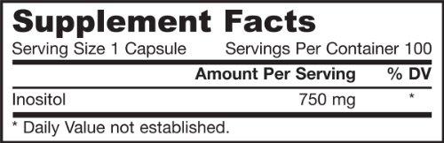 Viên uống bổ gan jarrow formulas inositol capsules 100 viên/ hộp: giải độc, hỗ trợ chức năng gan